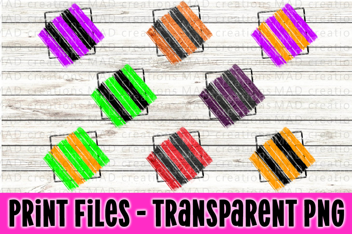 8 PNG Halloween Paint Strokes Stripes - Print File example image 1
