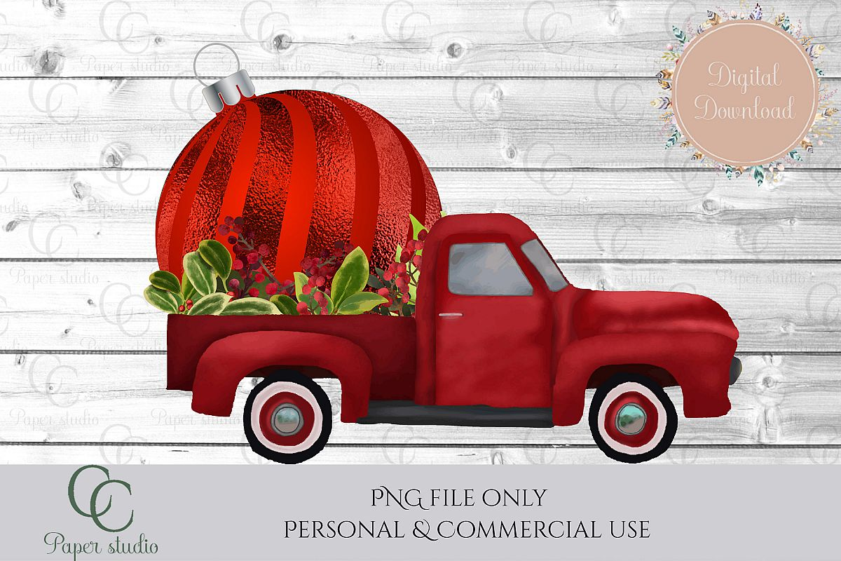 Bauble Truck - christmas example image 1