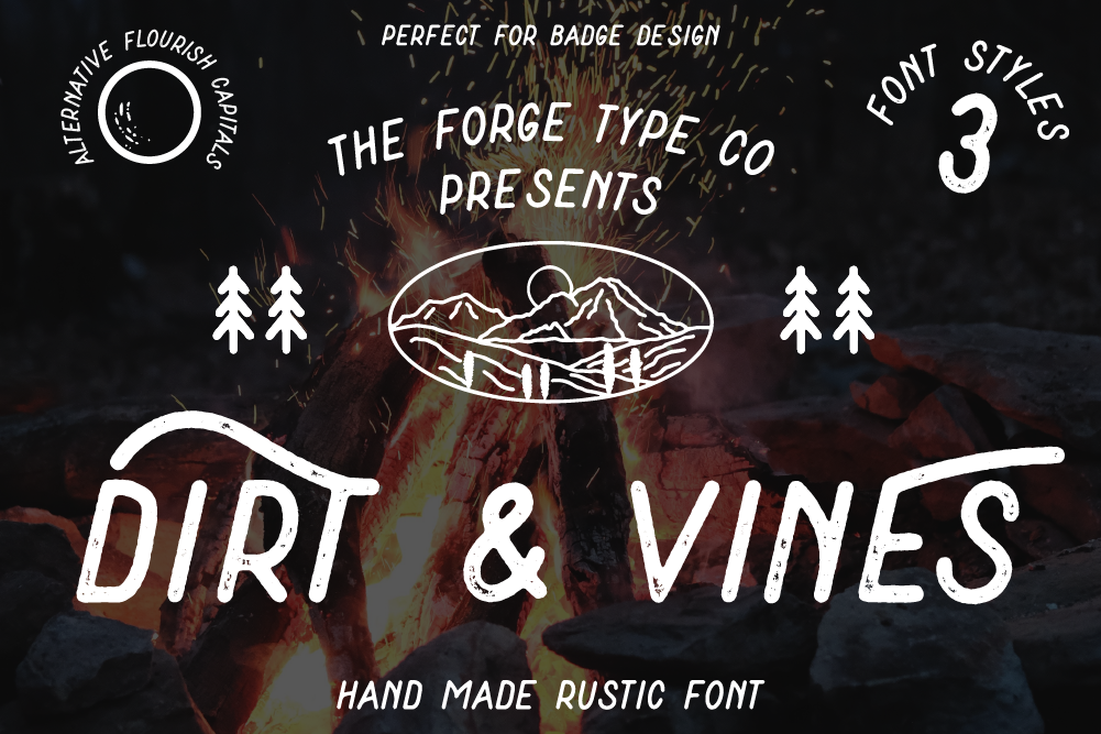 Dirt & Vines - A Gritty Adventure San-Serif example image 1