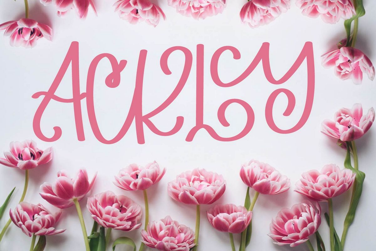 Ackly - A swirly fun typeface example image 1