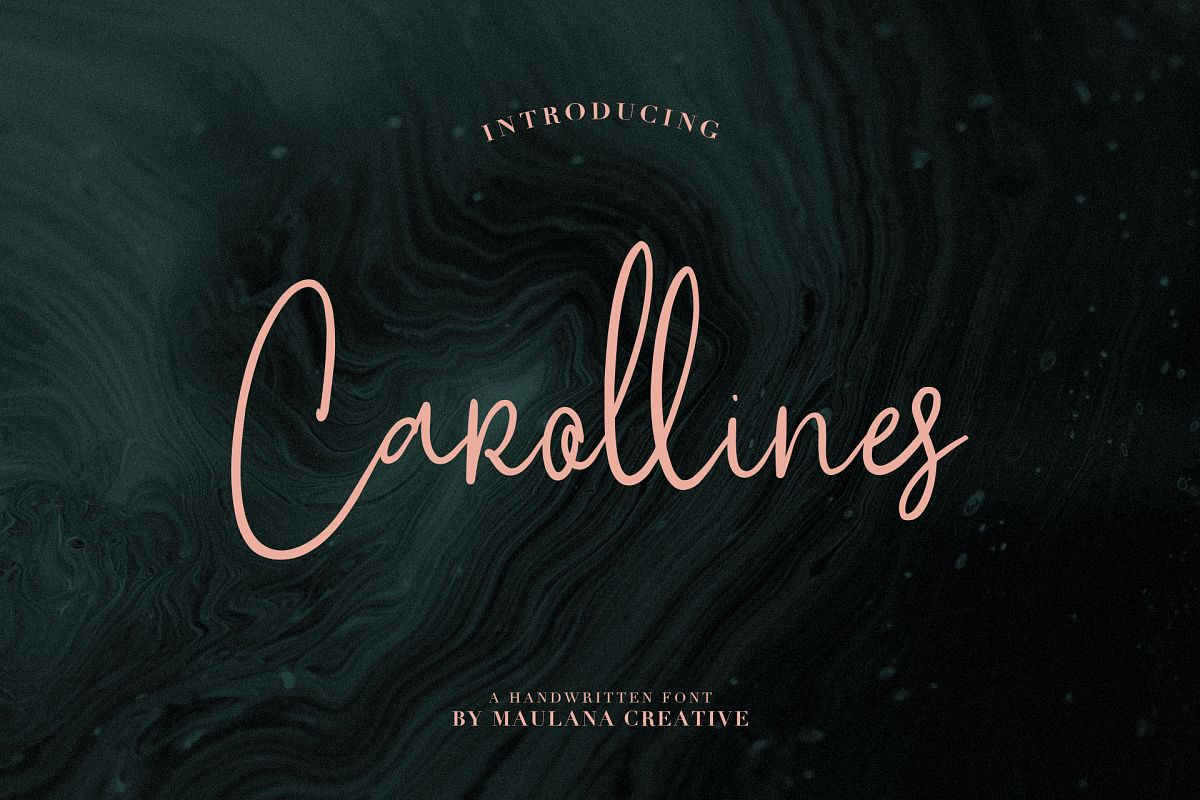 Carollines Script Font example image 1
