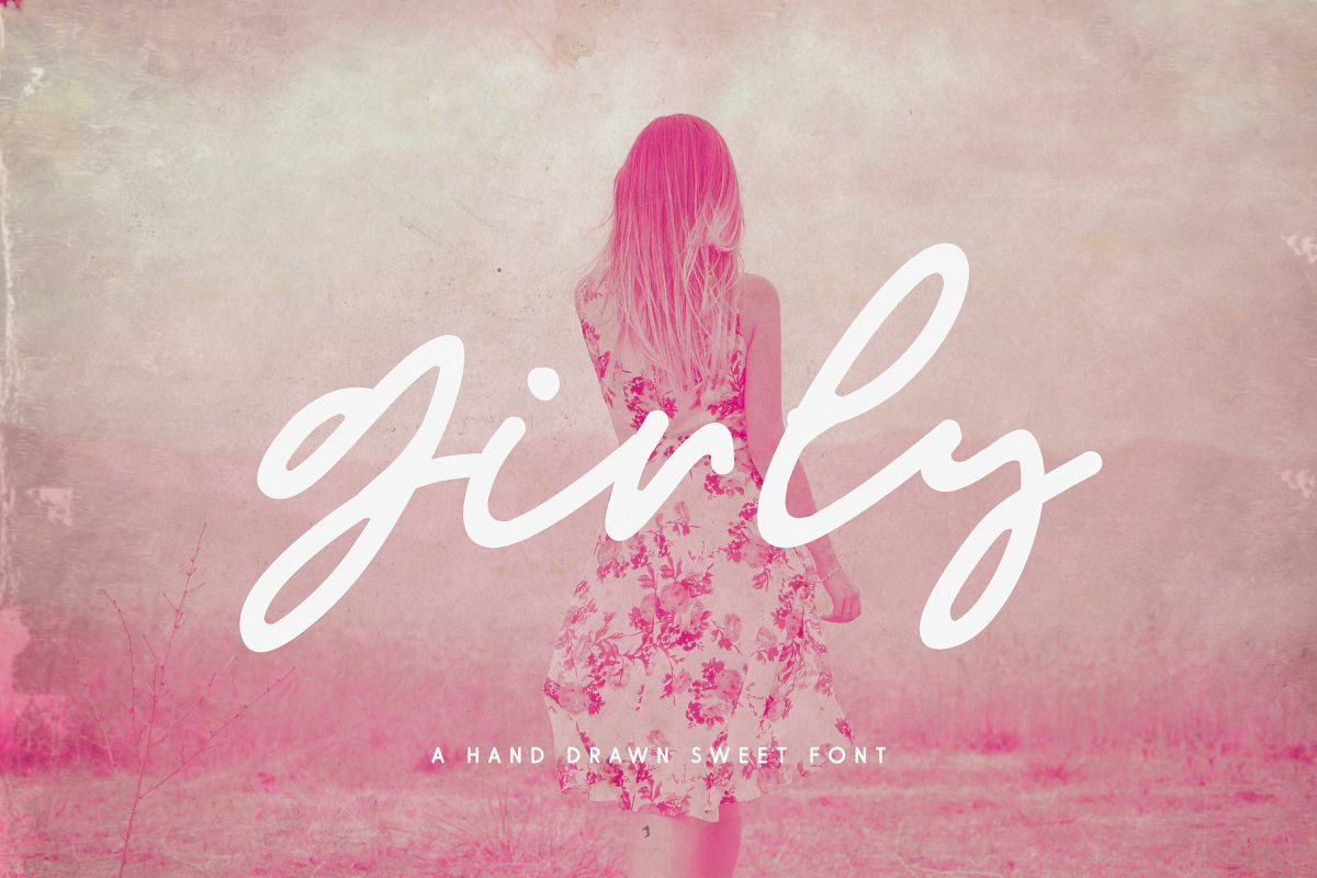 Girly Script Font example image 1