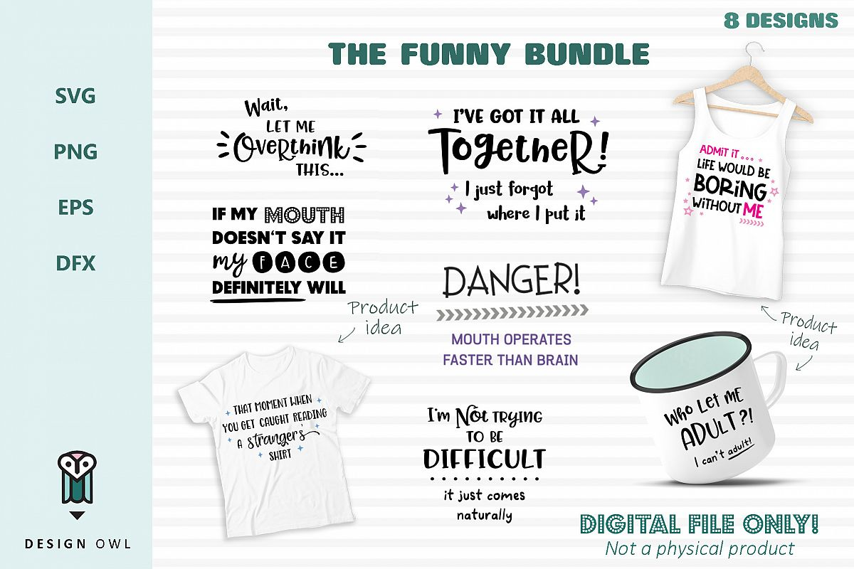 The Funny Bundle- SVG cut file bundle example image 1