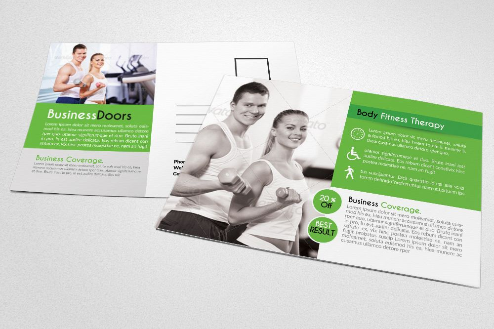 Body Fitness Club Postcard example image 1