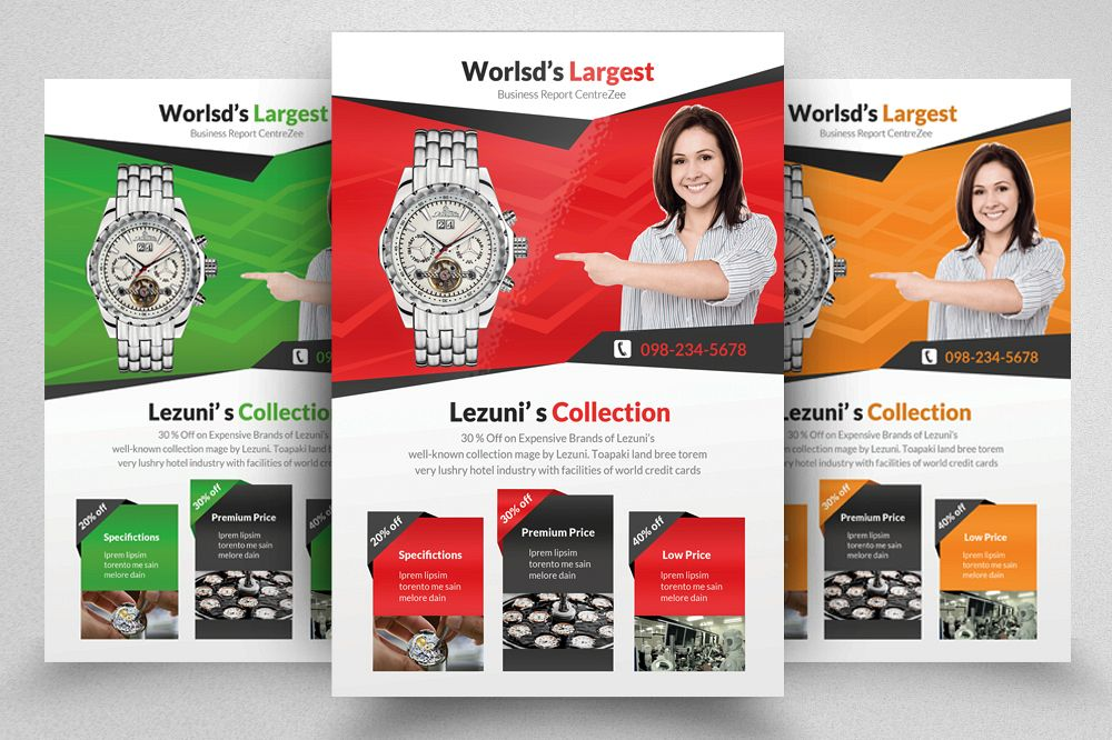 Watch Product Promotional Flyer