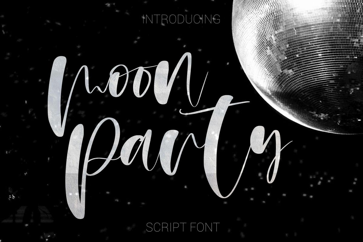 Moon Party Script Font example image 1