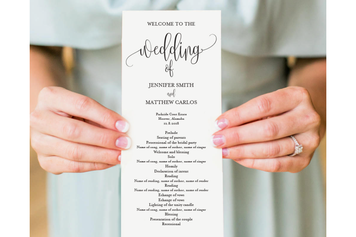 Wedding Program Template example image 1