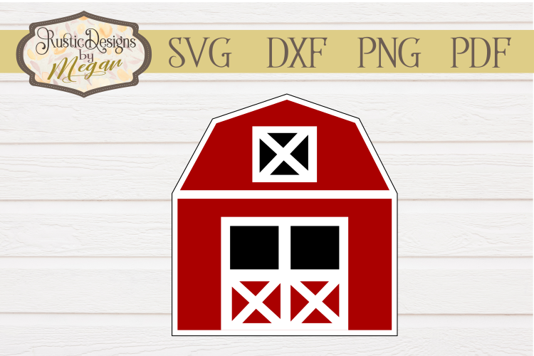 Red Barn SVG Clipart cut file example image 1