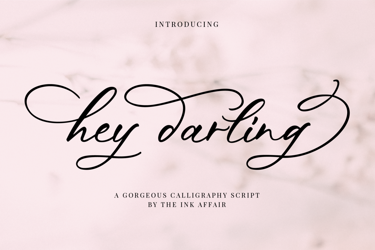 Hey Darling Calligraphy Script Font example image 1