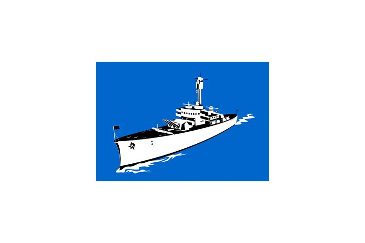 World War Two Battleship Retro example image 1