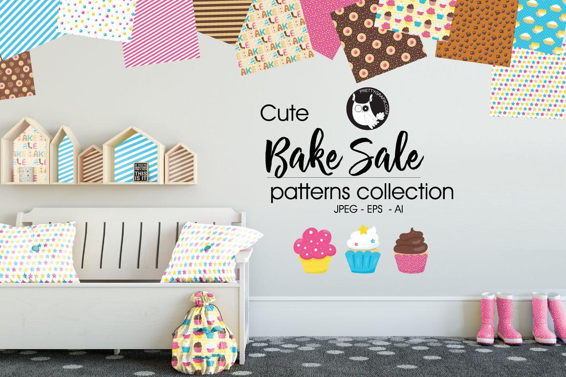 BAKE-SALE , digital papers example image 1