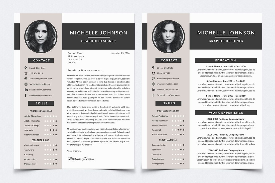 Resume Template For Photoshop