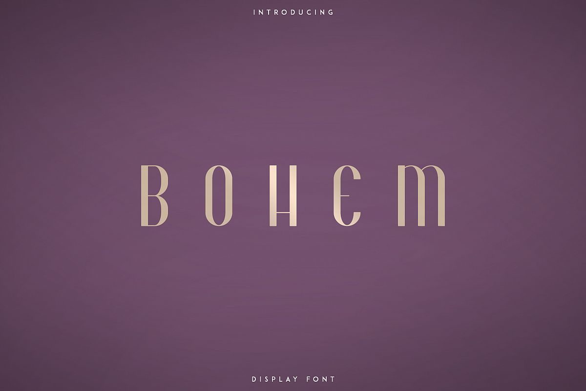 Bohem - Display font | 2 styles example image 1
