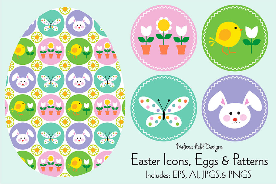 Easter Icons, Eggs & Patterns example image 1