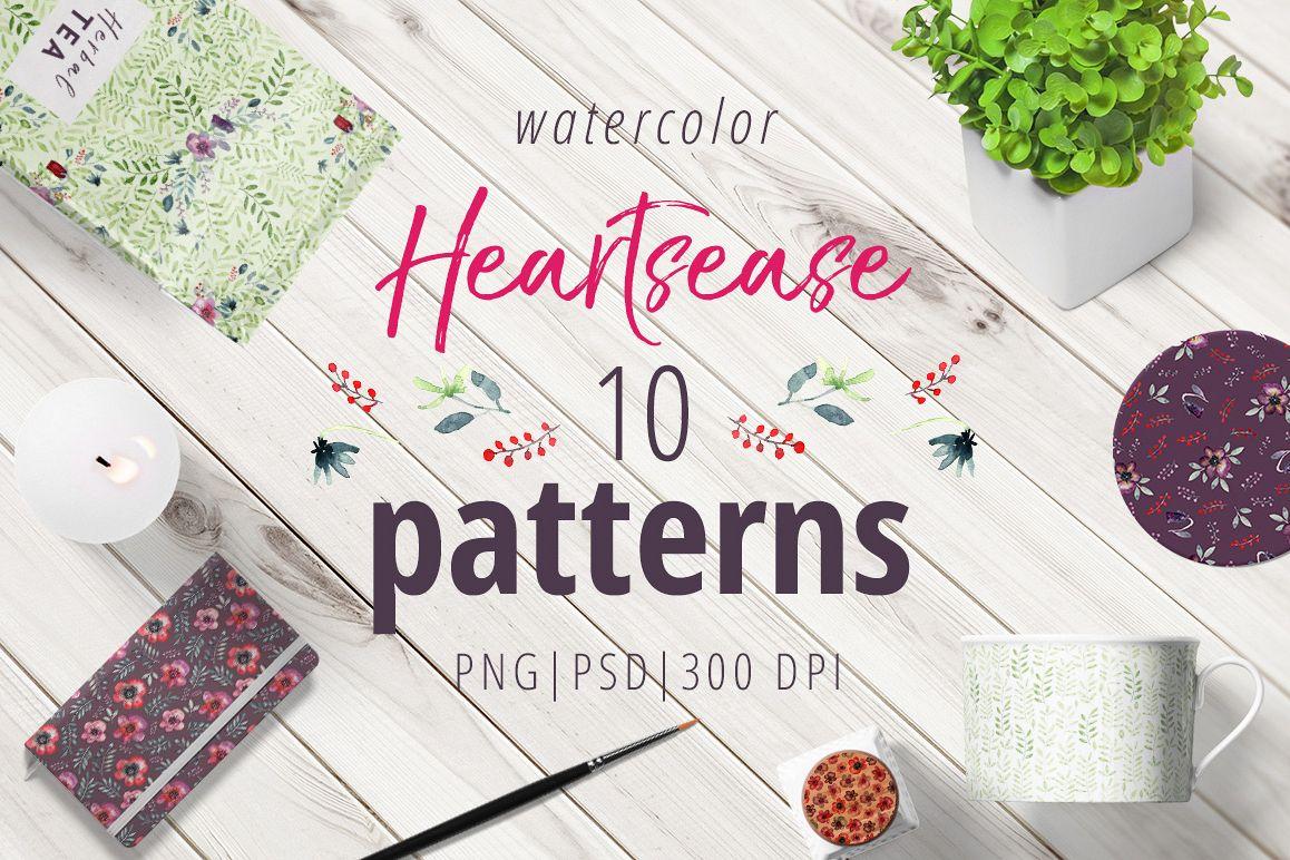 Heartsease pattern set example image 1