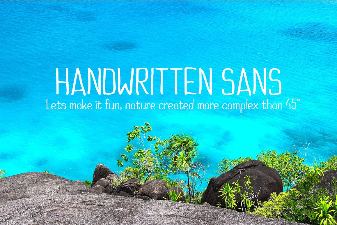 Handwritten Sans example image 1