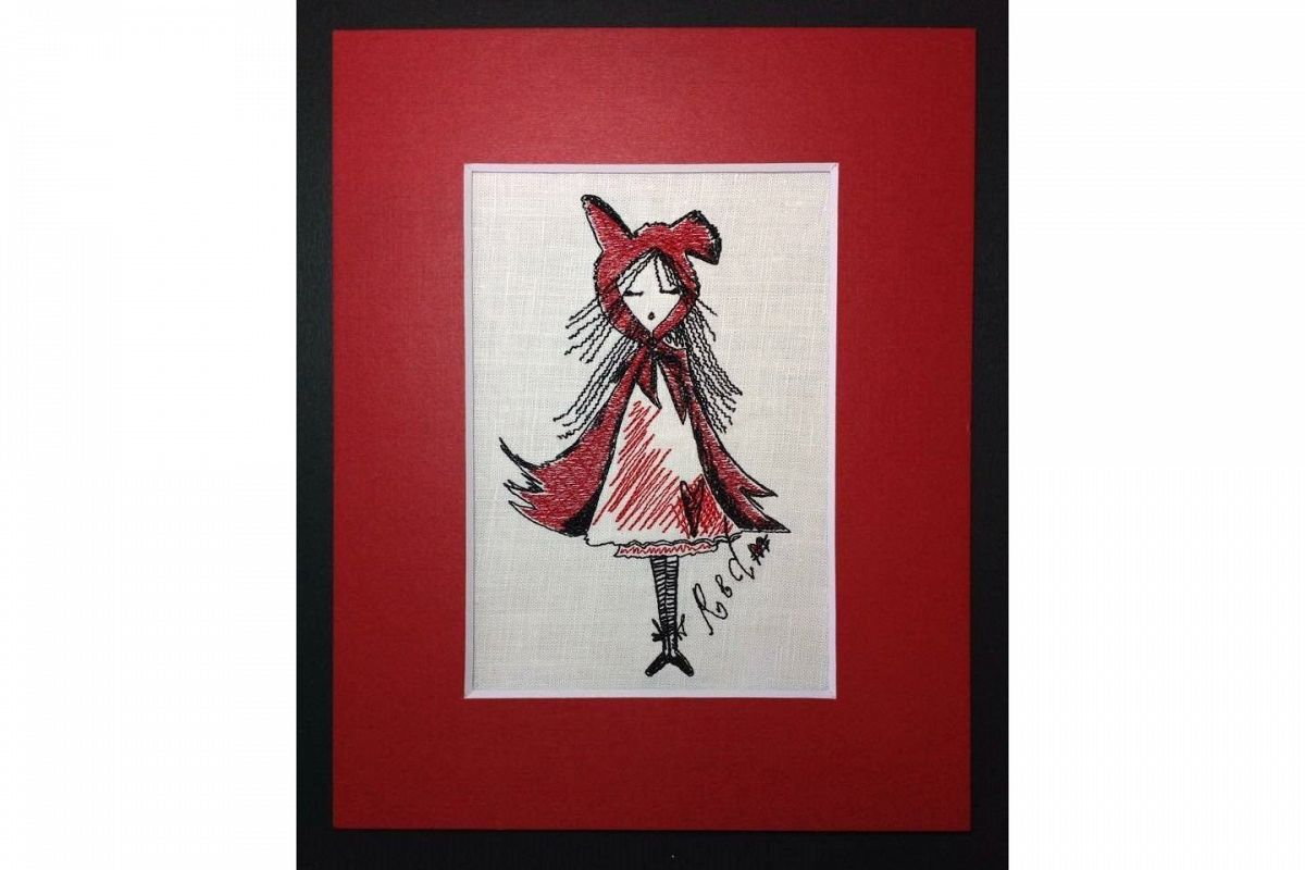 Unique Machine Embroidery Design  'Red'  example image 1