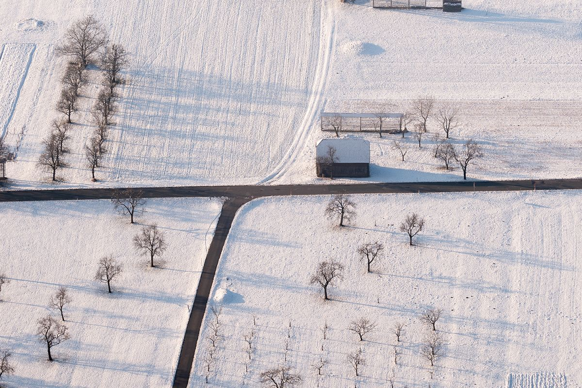 Snow in the countryside example image 1