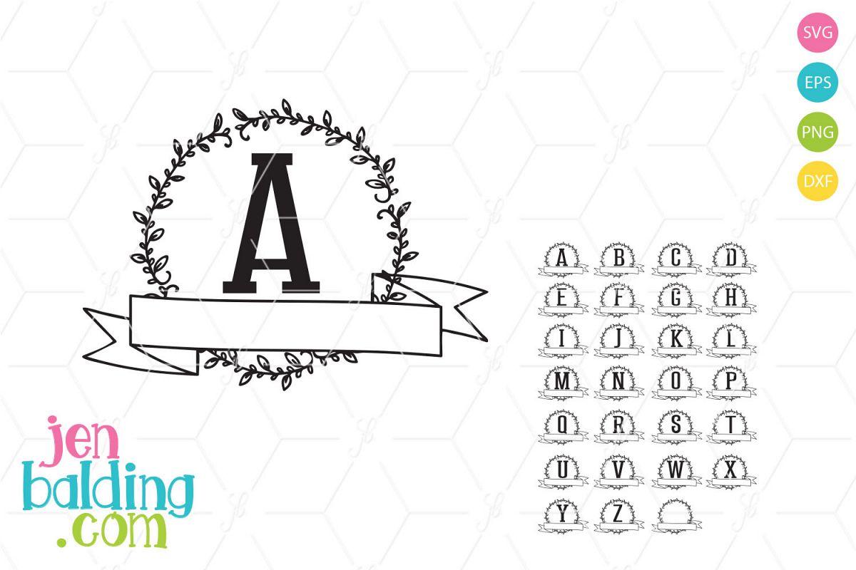 Wreath Monogram 2 example image 1