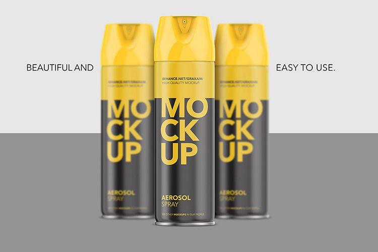 Aerosol Spray Mockup - Matte Front Mockup Short example image 1
