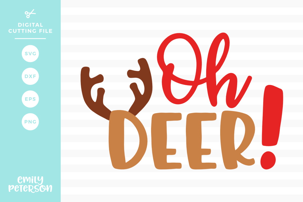 Oh Deer SVG DXF EPS PNG example image 1
