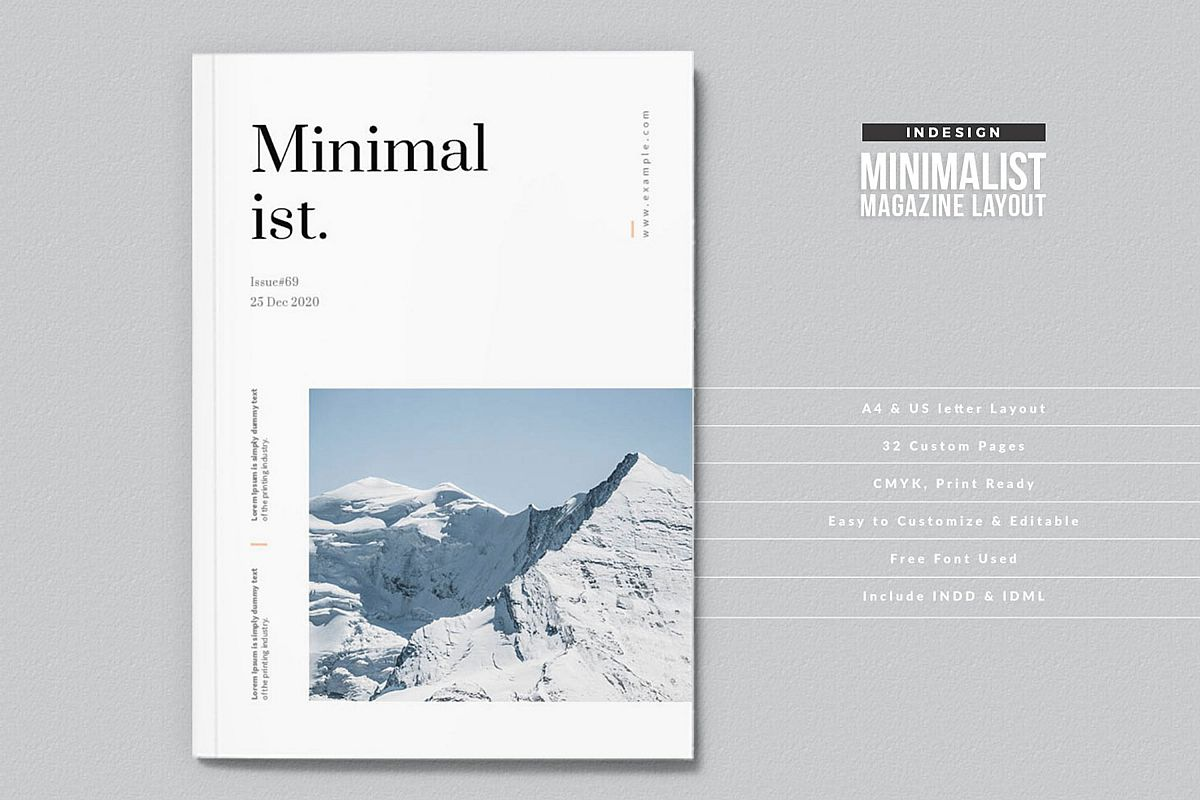 Modern InDesign Magazine Template example image 1