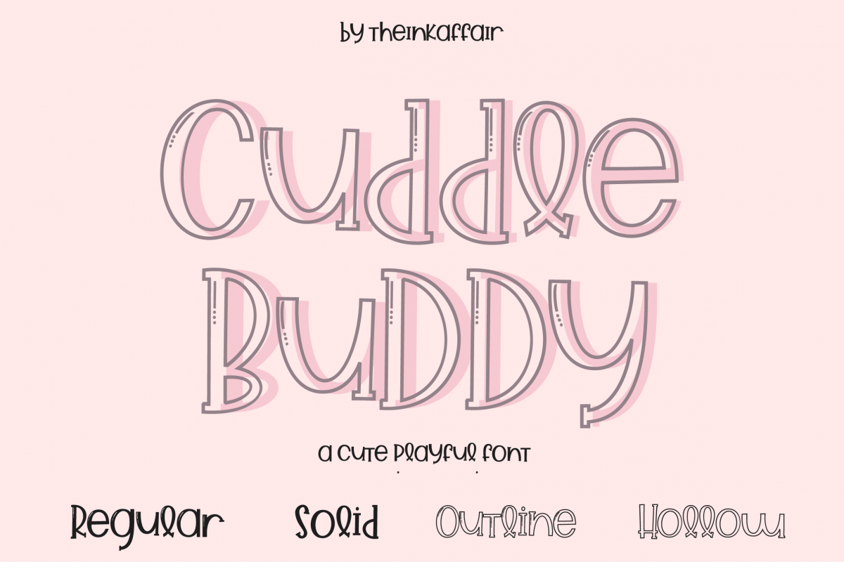 Cuddle Buddy A cute playful Font example image 1