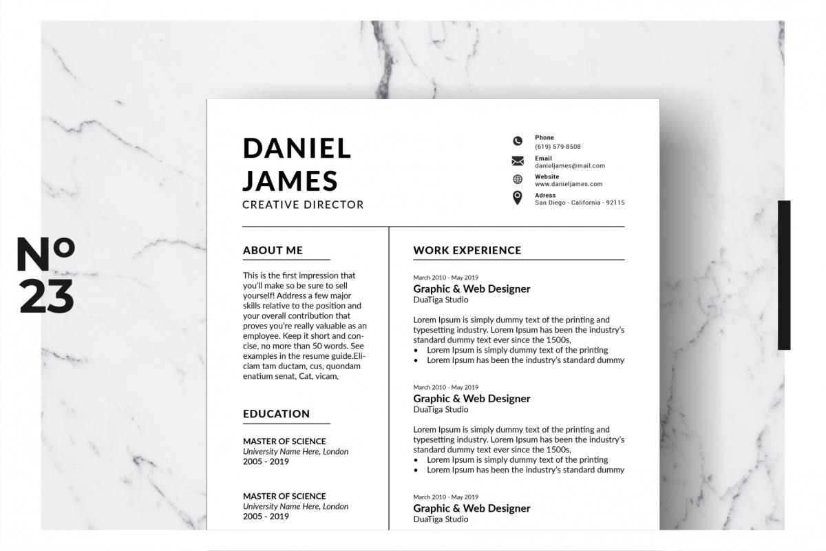 Resume Template Vol. 10 example image 1