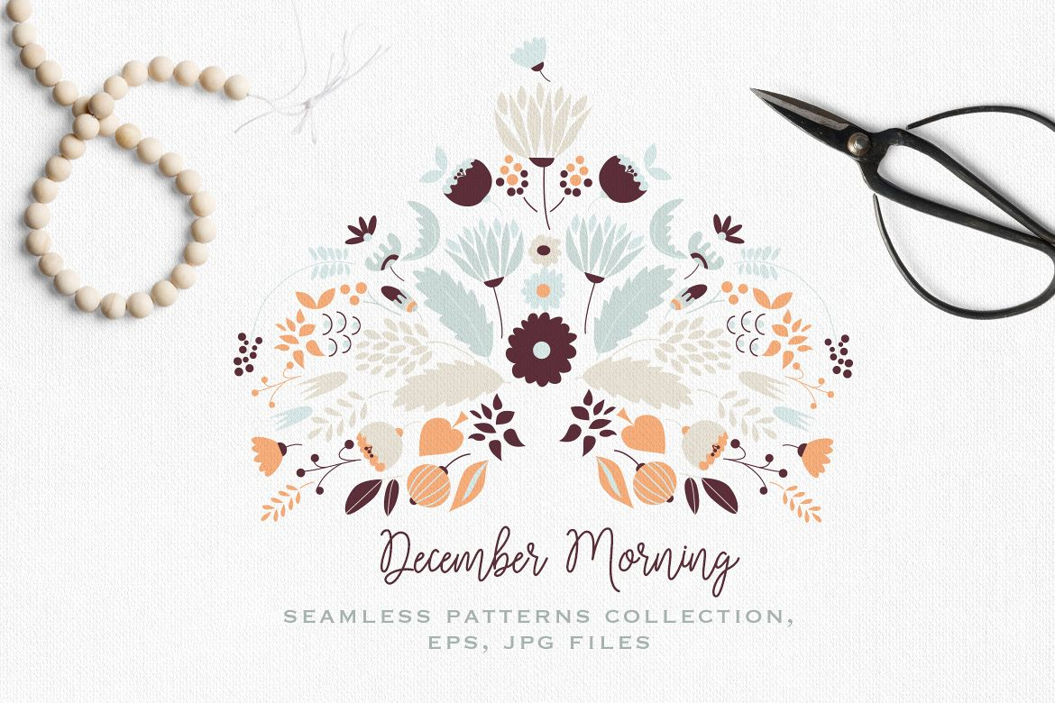 December Morning Patterns Collection example image 1