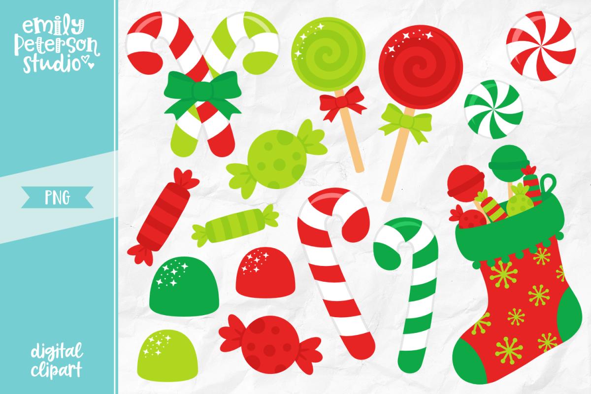 Christmas Candy Clipart.Christmas Candy Clipart Illustration Png