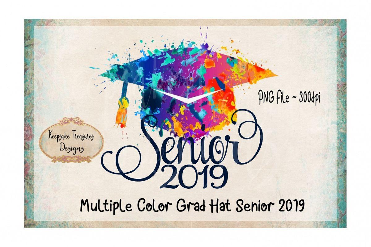 Multiple Color Grad Hat  Senior 2019 example image 1