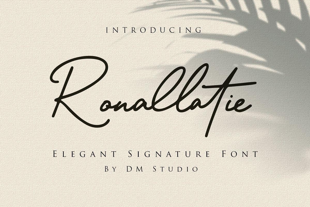 Ronallatie - Elegant Signature Font example image 1