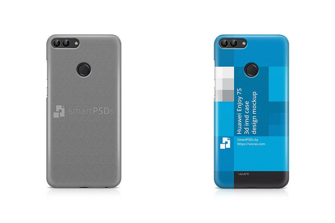 Huawei Enjoy 7S 3d IMD Mobile Case Design Mockup 2017 example image 1