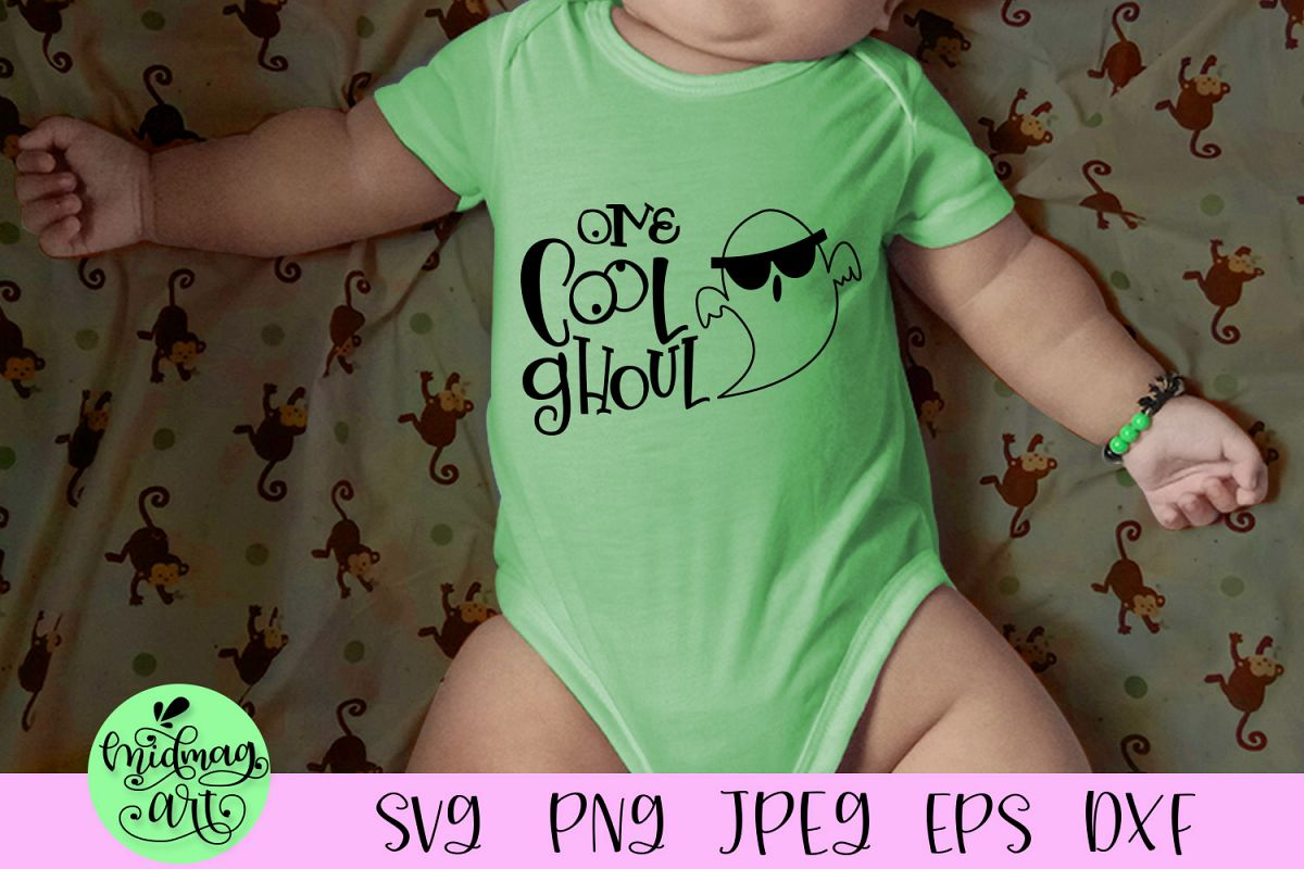 One cool ghoul svg, halloween baby svg example image 1