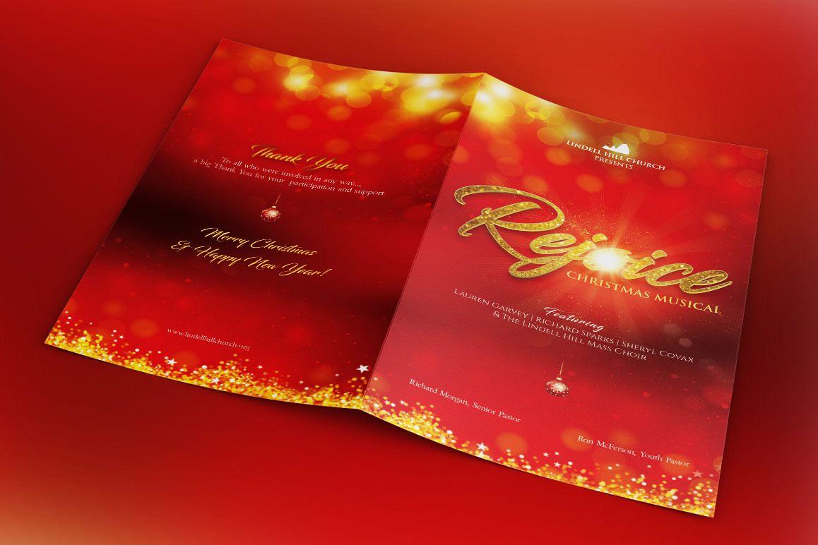 Rejoice Christmas Cantata Program Template example image 1