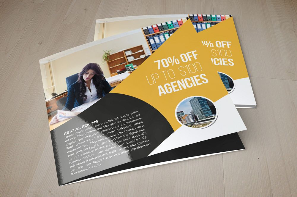 Business Dealing Square Trifold Brochure example image 1