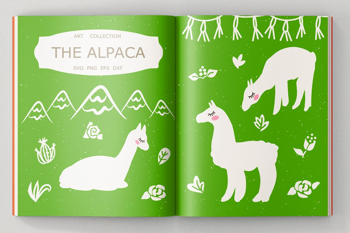Alpaca Bundle SVG DXF EPS PNG example image 1