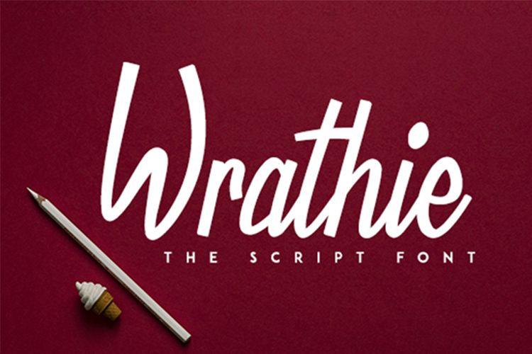Wrathie - Script Font example image 1