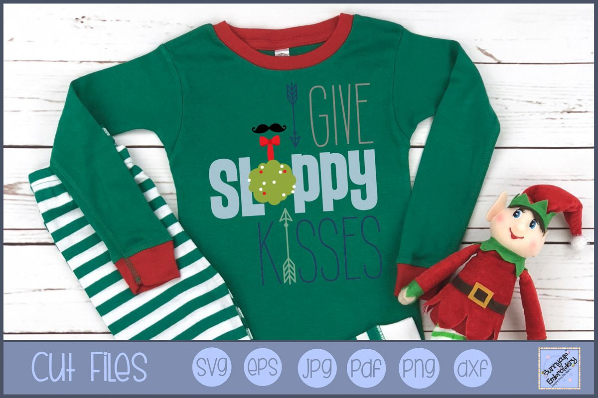 I Give Sloppy Kisses - SVG, Clipart, Printable example image 1