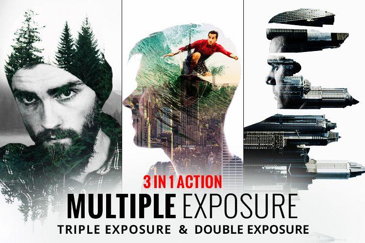 Multiple Exposure Photoshop Action example image 1