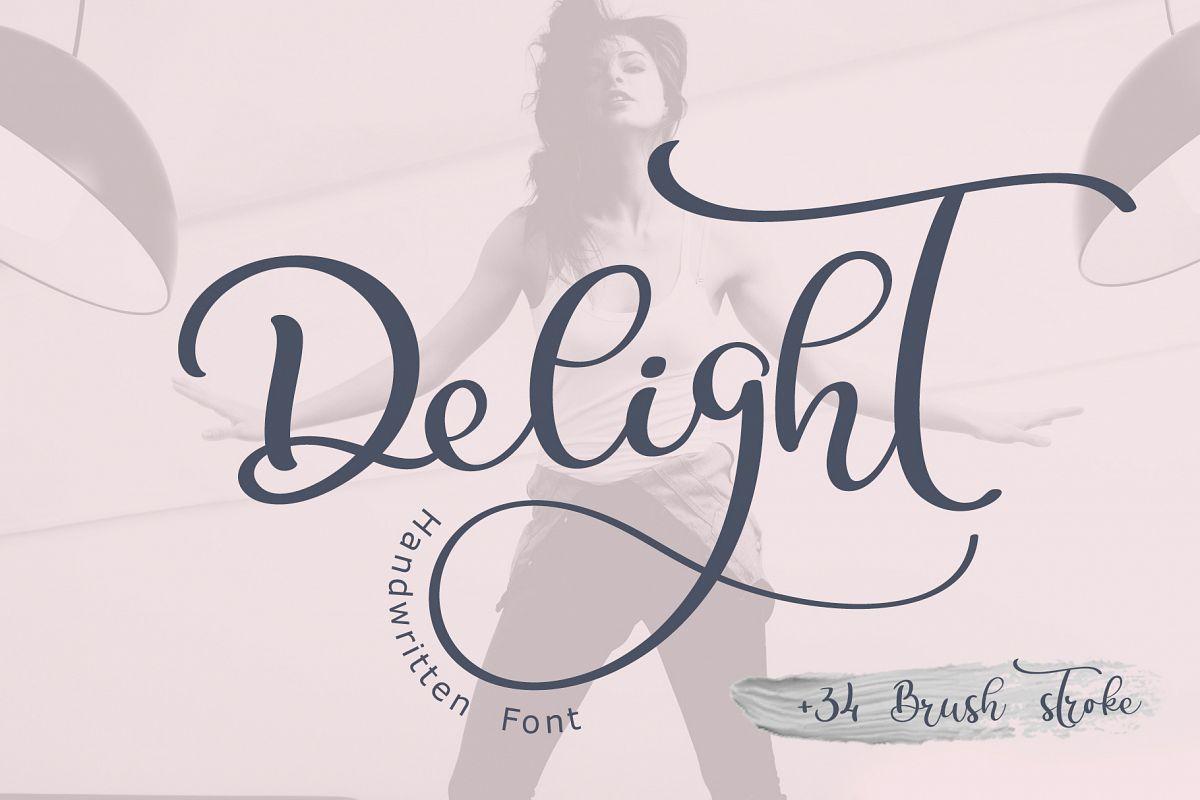 Calligraphy Wedding Decor Font Delight example image 1
