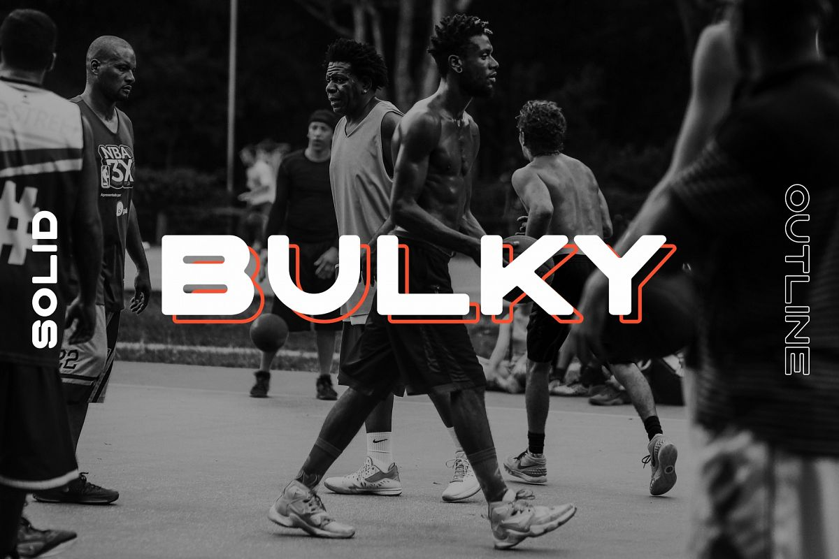 BULKY. Display typeface, 2 styles. example image 1