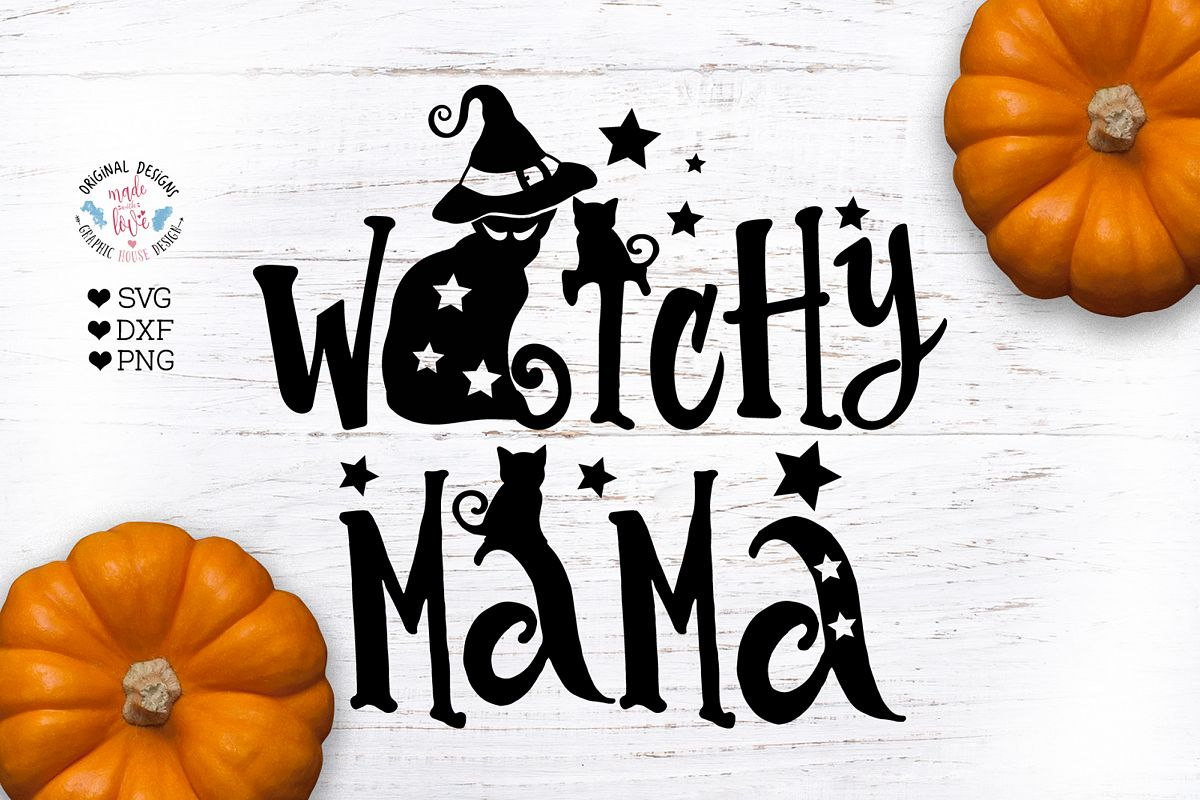Witchy Mama - Halloween Mom Witch Cut File example image 1