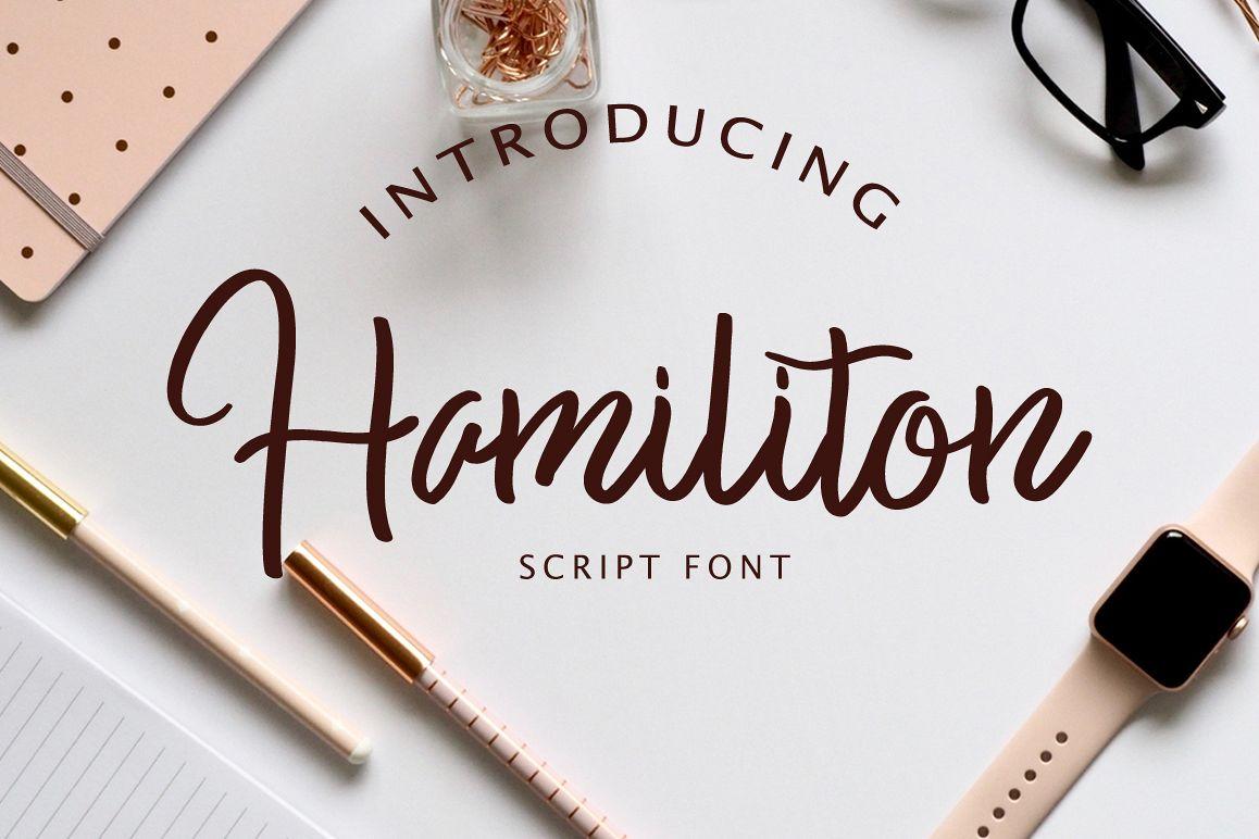 Hamiliton Script Font example image 1