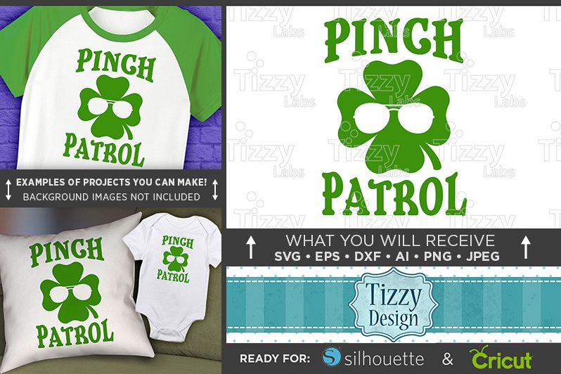 Pinch Patrol Shirt SVG File - St. Patricks Day Shirt - 1082 example image 1
