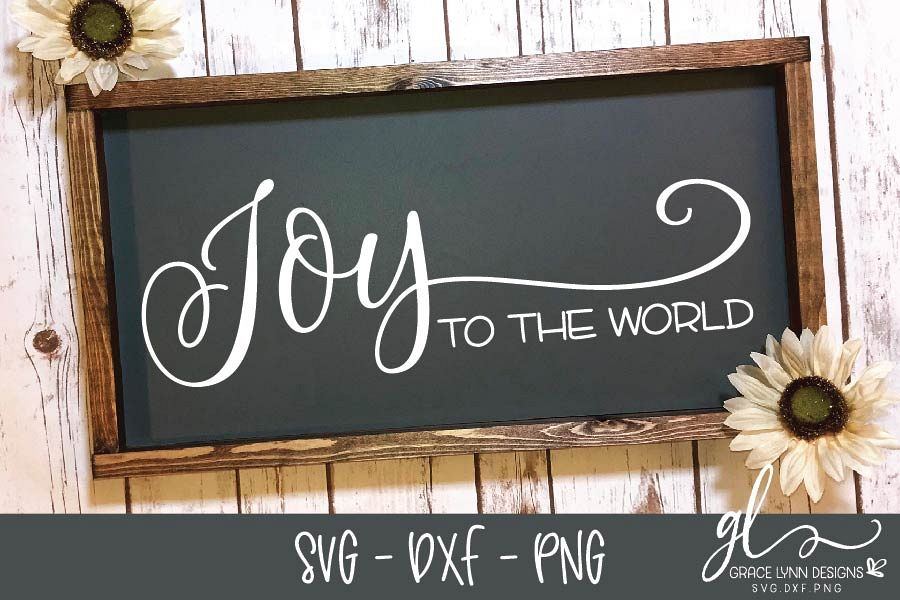 Joy To The World - Christmas Cut File - SVG, DXF & PNG example image 1