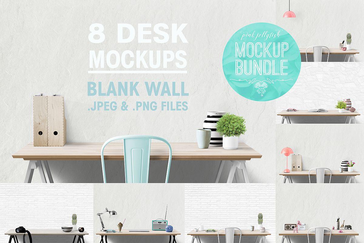wall mockup, interior wall, desk mockup, blank wall mockup example image 1