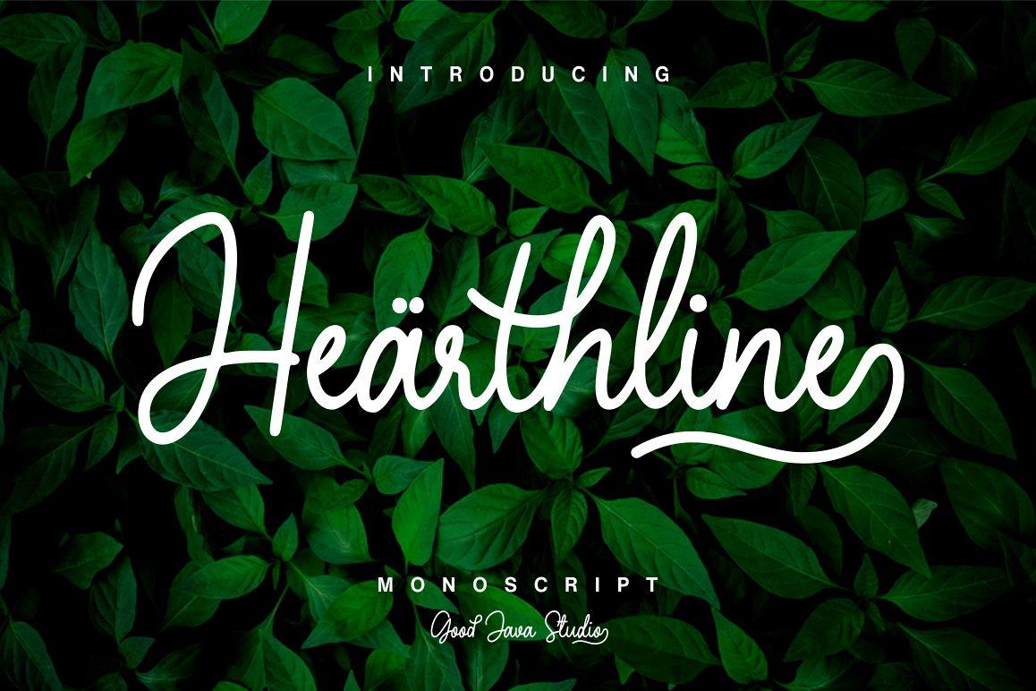 Hearthline - Monoscript Font example image 1