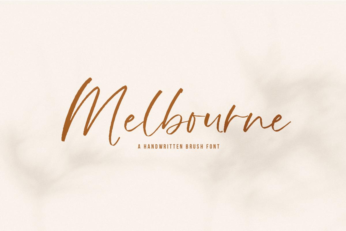 Melbourne - A Handwritten Script Font example image 1