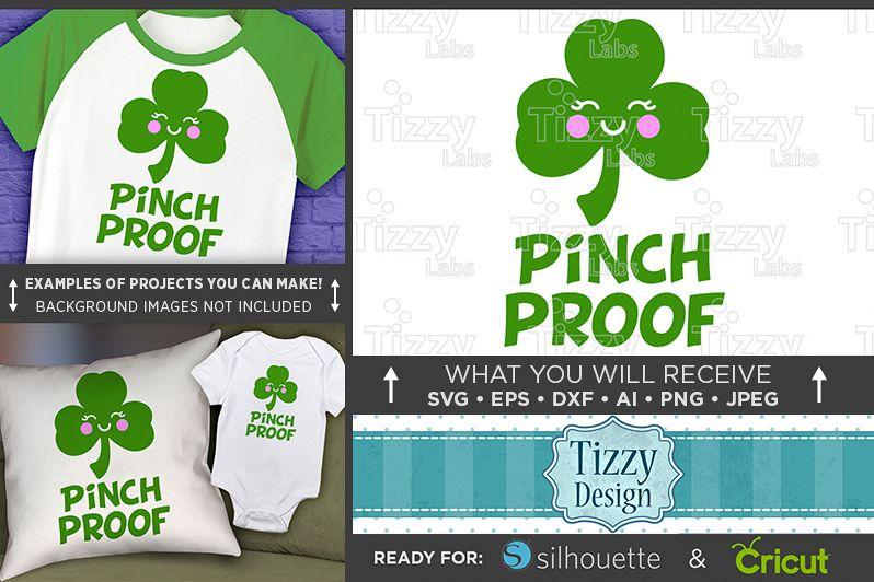 Pinch Proof SVG - Kids St. Patricks Day Shirt SVG - 1077 example image 1
